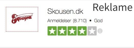 Skousen, der sælger hvidevarer, har en høj rating på Trustpilot.